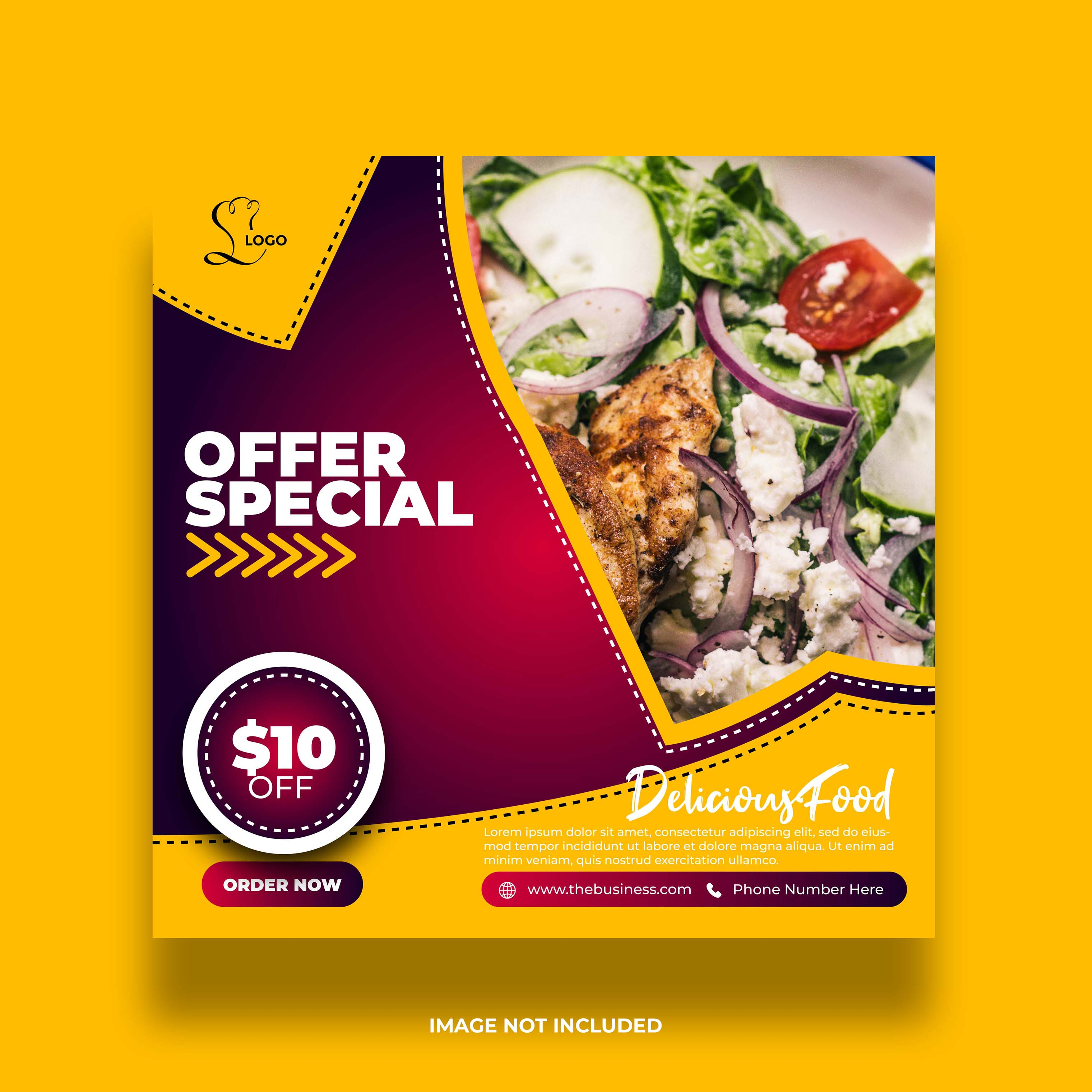 Red And Yellow Tasty Restaurant Social Media Banner Download Free Vectors Clipart Graphics Vector Art