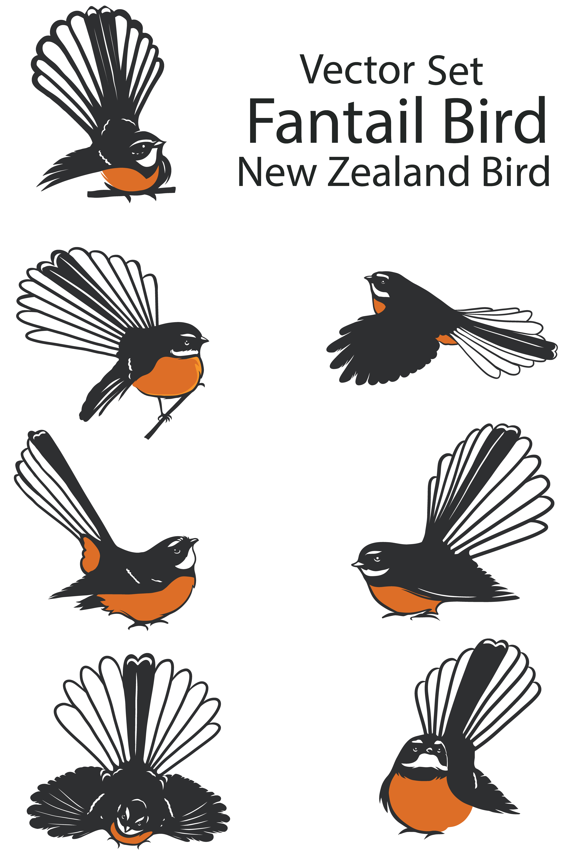 New Zealand Fantail Bird Set Download Free Vectors Clipart Graphics Vector Art Su etsy trovi 3 fantial in vendita, e costano in media € 7,76. vecteezy