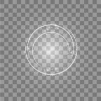 Round shiny light ring with lights vector