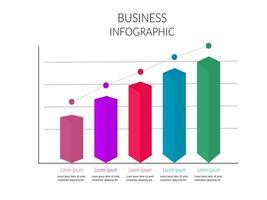 Colorful Cube Infographic Bar Chart Graph
