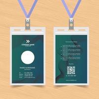 Green Wavy Lines ID Card