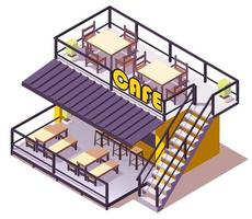 Isometric container cafe vector