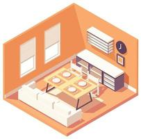 Isometric dining room