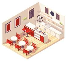 Coffee shop isometric composition vector