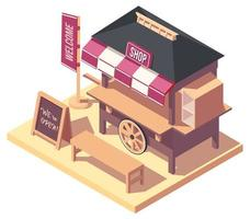 Isometric Japanese street food card vector