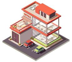 Home office isometric composition