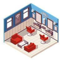 Isometric barber shop vector