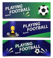 Set of football or soccer banners vector