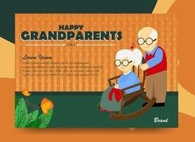 pôster para o dia dos avós vetor