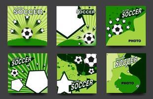 Social media football or soccer set vector