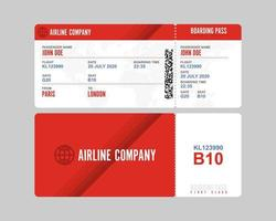 Boarding pass isolated  vector