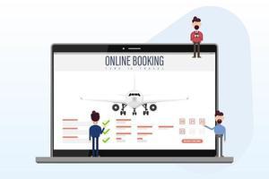 reservar su vuelo en línea