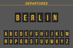 City name flight destination  vector