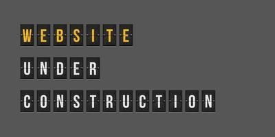 sitio web en construcción vector