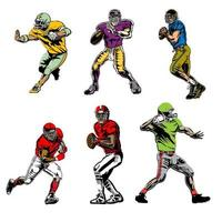 Football Players in Action Poses vector