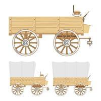 Wild west wagon isolated