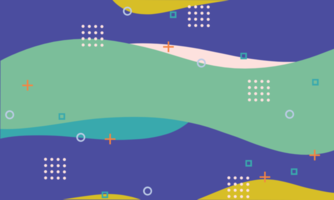 Abstract Geometric Shapes Memphis Background vector