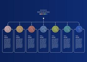 cirkels en vakken voor infografische teksten