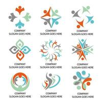 Social Company Logos vector