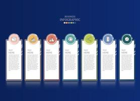 Basic business infographic steps and work icons vector