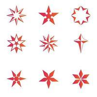 conjunto de diseño de estrella roja