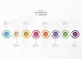 Basic colorful circle steps business infographic vector