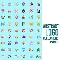 coleções de logotipo abstrato parte 3 vetor