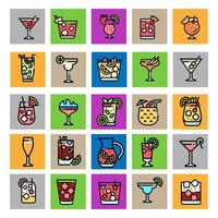 Cocktail Flat Icon Part 2 vector