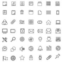 Computer Icons Flat Lines vector