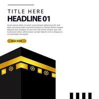 Hajj or umrah template banner  vector