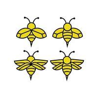 colección de iconos de abejas