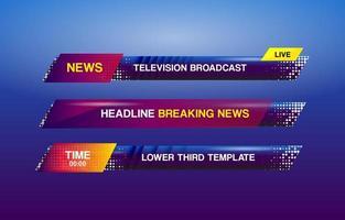 News lower third template design vector