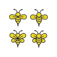 conjunto de iconos de abeja