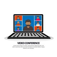 Video conference banner template vector