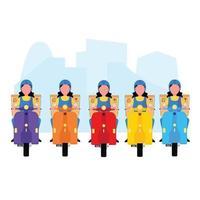 motoristas de entrega de empresa de logística colorida vetor