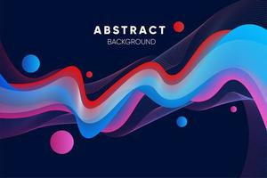 Abstract wavy colorful gradient line design vector