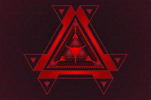 Abstract gradient red and black triangle technology design vector