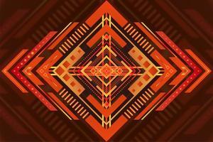 Decorative orange diamond design vector