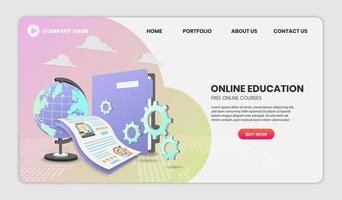 concepto de educación de cursos en línea