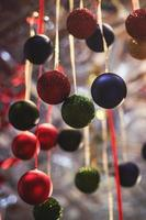 Assorted colorful holiday decorations