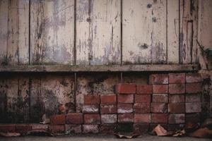 ladrillo de hormigón marrón foto