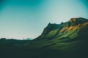 Icelandic mountain landscape photo