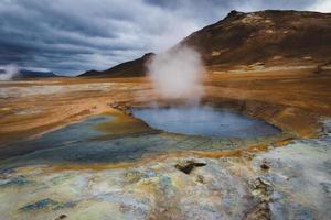 Iceland sulfur springs photo
