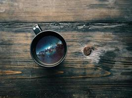 Mug with a night sky image inside