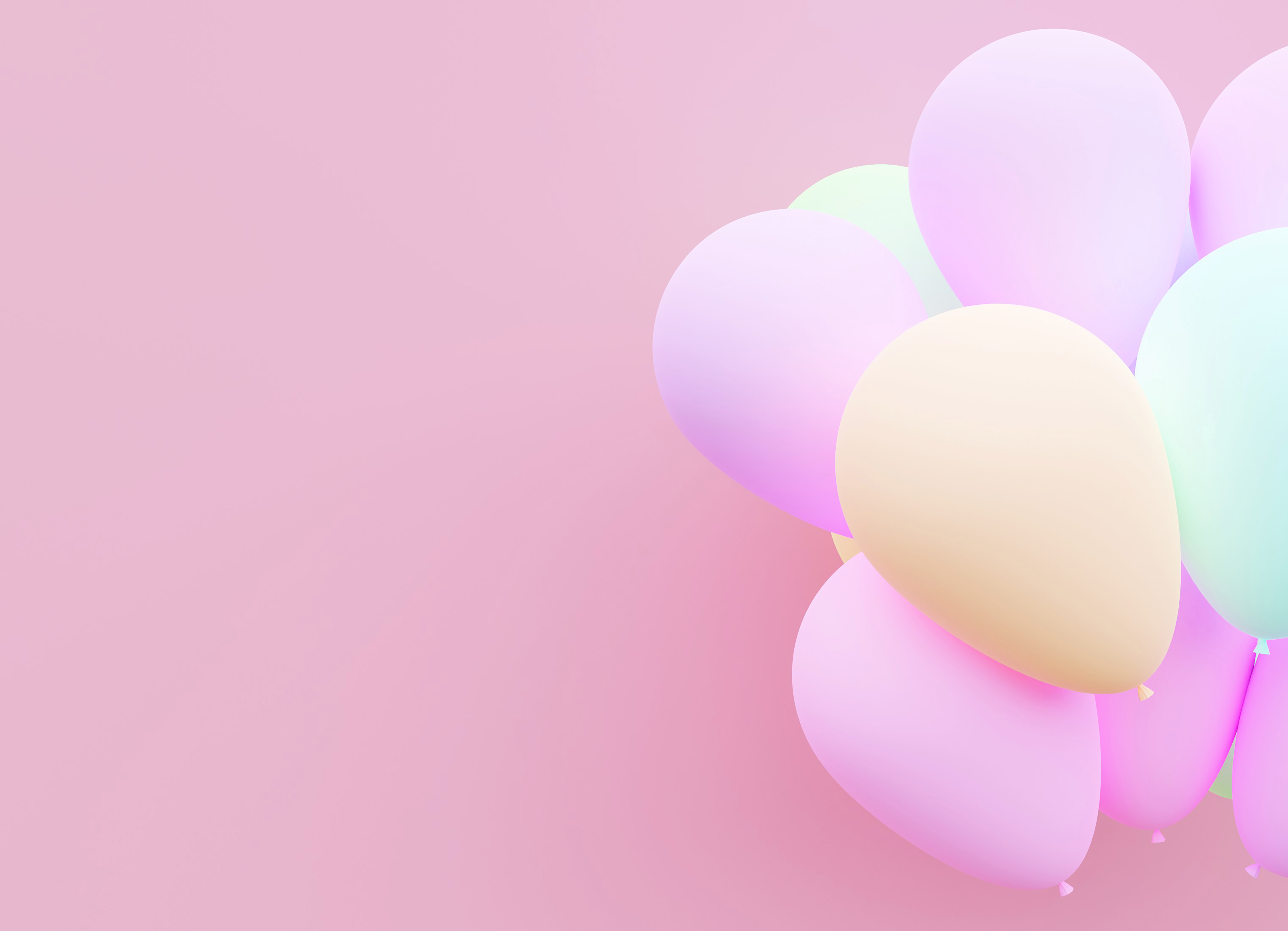Pastel balloon background