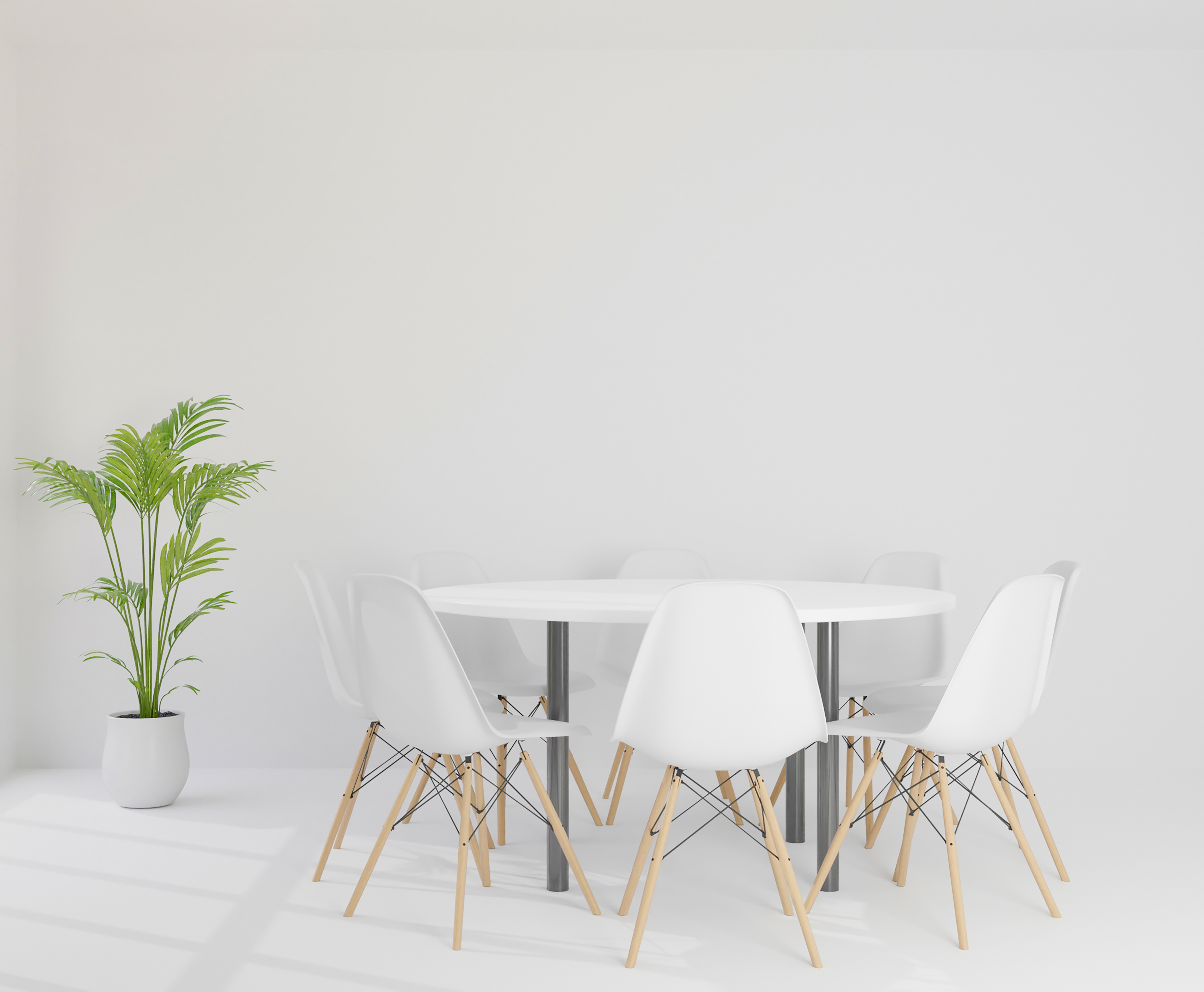 White meeting room with chairs