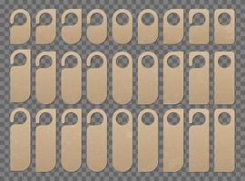 Room door hanger set vector