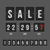 Sale and countdown timer with numbers vector