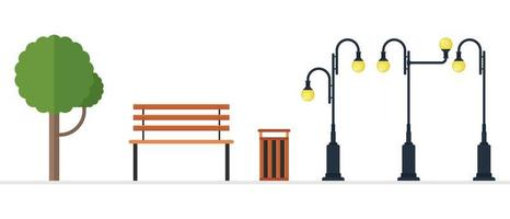 Park elements isolated  vector