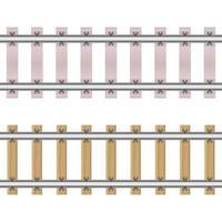 ferrocarriles aislados en blanco